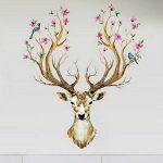 Eizur 3D PVC Cerf Sika Stickers Muraux Amovible Décoratifs Deer Autocollants Pour Chambre Restaurant Den Entrée Salon Room de la marque Eizur image 4 produit