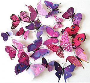 ElecMotive 24 Pièces 3D Papillons Papiers Décoration pour décoration de Maison et de Pièce, Stickers Muraux, 2 Couleurs de la marque ElecMotive image 0 produit
