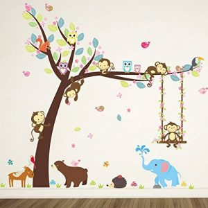 ElecMotive animaux Autocollants Muraux Mural Stickers Chambre Enfants Bébé Garderie Salon de la marque ElecMotive image 0 produit