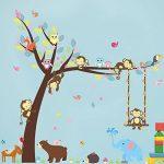 ElecMotive animaux Autocollants Muraux Mural Stickers Chambre Enfants Bébé Garderie Salon de la marque ElecMotive image 1 produit