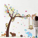 ElecMotive animaux Autocollants Muraux Mural Stickers Chambre Enfants Bébé Garderie Salon de la marque ElecMotive image 2 produit
