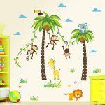ElecMotive Jungle Autocollants Muraux Mural Stickers Chambre Enfants Bébé Garderie Salon de la marque ElecMotive image 1 produit
