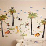ElecMotive Jungle Autocollants Muraux Mural Stickers Chambre Enfants Bébé Garderie Salon de la marque ElecMotive image 2 produit