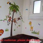 ElecMotive Jungle Autocollants Muraux Mural Stickers Chambre Enfants Bébé Garderie Salon de la marque ElecMotive image 3 produit