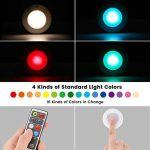 Elfeland Lampe Placard Lot de 6 Veilleuse LED RGB 16 Couleurs Lampes de Nuit sans Fil avec Contrôle Tactile et Télécommande Dimmable Lampe Armoire Alimenté par Batterie Lumière(6 Pack) de la marque Elfeland image 2 produit