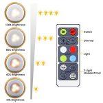 Elfeland Lampe Placard Lot de 6 Veilleuse LED RGB 16 Couleurs Lampes de Nuit sans Fil avec Contrôle Tactile et Télécommande Dimmable Lampe Armoire Alimenté par Batterie Lumière(6 Pack) de la marque Elfeland image 4 produit