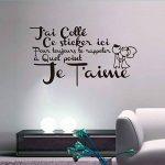 ELGDX Français Citation Amour Amovible Vinyle Mur Autocollant Stickers Murale Mur Art Papier Peint pour Salon Home Decor Maison Décoration de la marque ELGDX image 2 produit