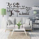 ELGDX Français Citation Amour Amovible Vinyle Mur Autocollant Stickers Murale Mur Art Papier Peint pour Salon Home Decor Maison Décoration de la marque ELGDX image 1 produit