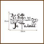 ELGDX Français Citation Amour Amovible Vinyle Mur Autocollant Stickers Murale Mur Art Papier Peint pour Salon Home Decor Maison Décoration de la marque ELGDX image 3 produit