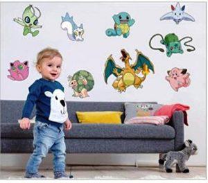 Enfants Stickers MURAUX Grand Disney Mickey Mouse Minnie Autocollants Filles Chambre DE Mur Chambre Decor Décoration Sticker Adhesif Mural Géant Répositionnable (Pokemon, 70 x 50) de la marque wall-stickers image 0 produit