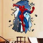Enfants Stickers MURAUX Grand Disney Mickey Mouse Minnie Autocollants Filles Chambre DE Mur Chambre Decor Décoration Sticker Adhesif Mural Géant Répositionnable (Spiderman Jumping, 70 x 50) de la marque wall-stickers image 1 produit