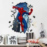 Enfants Stickers MURAUX Grand Disney Mickey Mouse Minnie Autocollants Filles Chambre DE Mur Chambre Decor Décoration Sticker Adhesif Mural Géant Répositionnable (Spiderman Jumping, 70 x 50) de la marque wall-stickers image 2 produit