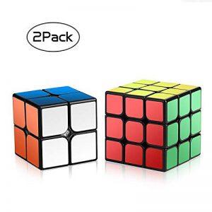 Ensemble Speed Cube,Roxenda 2x2x2 3x3x3 Vitesse Cube de Magique; Autocollant Spin Lisse Super Durable avec des Couleurs Vives pour; Facile à Tourner et à Lisser de la marque Roxenda image 0 produit