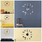 EsportsMJJ DIY Mini Modern Art Miroir Horloge Murale 3D Sticker Design Maison Bureau Décoration-Rouge de la marque EsportsMJJ image 2 produit