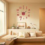 EsportsMJJ DIY Mini Modern Art Miroir Horloge Murale 3D Sticker Design Maison Bureau Décoration-Rouge de la marque EsportsMJJ image 4 produit
