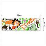 EUGU Enfants Jungle Animaux Stickers Muraux Girafe Singe Lion Zoo Stickers Muraux Pour Bébé Tout Petits Garçons Et Filles Chambres 30X90cm de la marque EUGU image 3 produit
