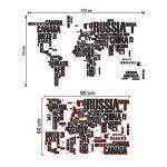 EWQHD 3D Couleur/Lettres Noir/Blanc Combinaison Mappemonde Stickers Muraux Enfants Accueil Salle De Bureau Décoration Art Stickers Autocollant Pvc Papier Peint, C de la marque EWQHD image 1 produit