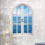 EWQHD Wall Sticker Fond Salon Chambre Fenêtre 3D Vue Sur La Mer Stickers Muraux Amovibles Art Mural Decal Papier Peint Mode de la marque EWQHD image 1 produit