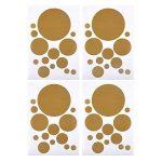 ewtshop Lot DE 48 Stickers muraux pour Chambre d'enfant Motif Pois Doré de la marque ewtshop image 2 produit