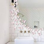 Extsud 12 Pcs 3D Papillons Stickers Muraux Stiker Mural Autocollants Maison Décor Style Moderne Bricolage Art Papillon Home Décoration avec Cristal Central pour Garderie,Salon,Chambre,Bébé,Enfant (Rose) de la marque Extsud image 3 produit