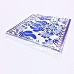 Extsud Set de 10 Pcs Sticker Carrelage Autocollant 20x20cm Carrelage Adhésif Mural Étanche pour Cusine Salle de Bain (Style porcelaine bleu et blanc) de la marque Extsud image 4 produit