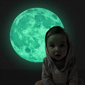Extsud Sticker Mural Lumineux Autocollant Fluorescent Motif de Lune 30cm pour Chambre d'Enfant Bébé de la marque Extsud image 0 produit