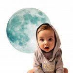 Extsud Sticker Mural Lumineux Autocollant Fluorescent Motif de Lune 30cm pour Chambre d'Enfant Bébé de la marque Extsud image 1 produit