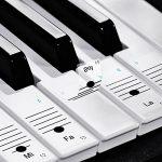 Faburo 2pcs Autocollants amovibles pour notes de piano Stickers transparents pour Clavier de piano 54,61,88 touches et 2pcs Chiffons à piano de la marque Faburo image 1 produit