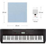 Faburo 2pcs Autocollants amovibles pour notes de piano Stickers transparents pour Clavier de piano 54,61,88 touches et 2pcs Chiffons à piano de la marque Faburo image 2 produit