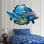Fancylande Stickers Muraux Sticker Mural, Sticker Mural Tridimensionnel en PVC 3D Dauphin pour Fenêtre en Verre, Chambre à Coucher, Salon de la marque Fancylande image 2 produit