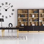 FAS1 Moderne DIY Grand Pendule Murale Chiffres Romains Big Montre Stickers 3D Horloge Montre Murale Home Office Décoration Amovible (Batterie Non Inclus) Noir de la marque FAS1 image 1 produit