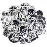 FEZZ 100pcs Graffiti Autocollants Mixte Aléatoire Noir Blanc Dessin Animé Étanche pour DIY Ordinateur Portable Macbook Voiture Moto Vélo Bagages Skateboard de la marque FEZZ image 3 produit
