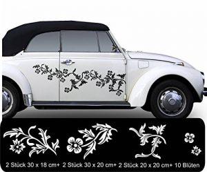 Fleurs Tribal autocollant autocollant pour voiture fleurs décoratives fioriture en voiture 33couleurs mat ou brillant chasseur chasse - Lavande mat de la marque WERBUNGkreativ image 0 produit