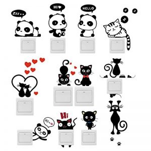 Foonii 11 PCS Interrupteurs Autocollant, Cute Sticker, Sticker Commutateur Résistant à L'eau Amovible, PVC Switch Socket Décorations Stickers Muraux Art Mural Wall Sticker, DIY Sticker de la marque Foonii image 0 produit