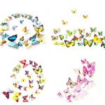 Foonii® 3D Papillons Papiers Décoration pour décoration de Maison et de Pièce, Stickers Muraux, 6 Couleurs, 72 Pièces (Rouge/Bleu/Jaune/Vert/Rose/Couleur) de la marque Foonii image 4 produit