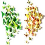 Foonii® 3D Papillons Papiers Décoration pour décoration de Maison et de Pièce, Stickers Muraux, 6 Couleurs, 72 Pièces (Rouge/Bleu/Jaune/Vert/Rose/Couleur) de la marque Foonii image 1 produit