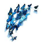Foonii® 3D Papillons Papiers Décoration pour décoration de Maison et de Pièce, Stickers Muraux, 6 Couleurs, 72 Pièces (Rouge/Bleu/Jaune/Vert/Rose/Couleur) de la marque Foonii image 2 produit