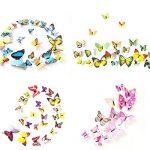 Foonii® 3D Papillons Papiers Décoration pour décoration de Maison et de Pièce, Stickers Muraux, 8 Couleurs, 108 Pièces (Rouge/Bleu/Jaune/Vert/Rose/Couleur/blanc/Réaliste/Violet) de la marque Foonii image 4 produit