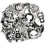 Formwin Cool Graffiti Stickers Noir Blanc Stickers Vinyle Stickers pour Ordinateur Portable Casque Bagages Skateboard Ordinateur téléphone de Moto de vélo de Voiture étanche Stickers Assortis Lot de la marque Formwin image 1 produit