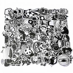 Formwin Cool Graffiti Stickers Noir Blanc Stickers Vinyle Stickers pour Ordinateur Portable Casque Bagages Skateboard Ordinateur téléphone de Moto de vélo de Voiture étanche Stickers Assortis Lot de la marque Formwin image 0 produit