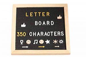 FoxyAssort Tableau Noir Instagram 350 Lettres, Chiffres, Emojis Blanc, Or, Rose. Idéal pour décoration, Cadeau de la marque FoxyAssort image 0 produit