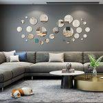 FRETOD Miroirs Muraux Rond 30PCS - 3D Miroir Autocollant Stickers avec Adhésif pour Chambre Salon Décoration d'intérieur de la marque FRETOD image 1 produit