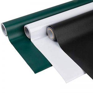 Frifer Sticker Tableau Noir Auto-adhésif Ardoise Autocollant Mural Amovible avec 5 Craies (Noir, S: 45 * 110cm) de la marque Frifer image 0 produit