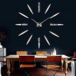 GEEDIAR 3D DIY Horloge Murale Amovible Pendules Murales Moderne Mur Loisirs Grosse Montre Décoration Stickers Effet Miroir Verre Acrylique Décoration de la marque GEEDIAR image 1 produit
