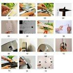 GEEDIAR 3D DIY Horloge Murale Amovible Pendules Murales Moderne Mur Loisirs Grosse Montre Décoration Stickers Effet Miroir Verre Acrylique Décoration de la marque GEEDIAR image 2 produit