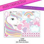 GET STICKING DÉCOR Licorne Cheval Stickers Muraux/Autocollants Collection, Rainbow Unic.4, Matt Vinyl Amovible, Multicolore. (Large) de la marque GET STICKING DÉCOR image 3 produit