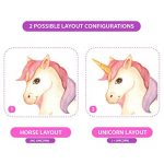 GET STICKING DÉCOR® Licorne Cheval Stickers Muraux/Autocollants Collection, TwinklesEyeSit Unic.11.Sit, Matt Vinyl Amovible, Multicolore. (Large) de la marque GET STICKING DÉCOR image 3 produit