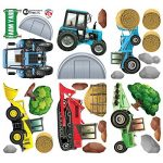 GET STICKING DÉCOR® Tracteurs & Diggers Stickers Muraux/ Autocollants Collection, TracHeavyFarm Trac.6, Vinyle Amovible Brillant, Multicolore. (Large) de la marque GET STICKING DÉCOR image 2 produit