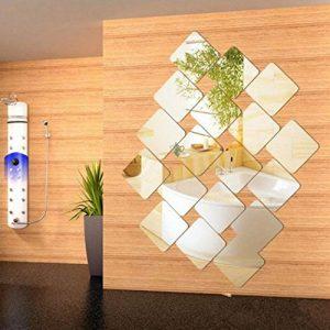 Gfone 6 pièces Style Moderne décoratif carré Miroir Mural stéréo Sticker Chambre Home Decor Stickers muraux de la marque Gfone image 0 produit