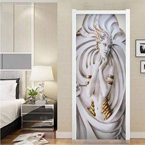 GLYOUNG Stickers De Porte Grandes Peintures Murales PVC Étanche 3D Stéréoscopique Art Statue Salon Chambre Porte Décoration Murale Papier Peint de la marque GLYOUNG image 0 produit